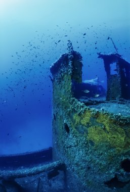 Sunken russian ship wreck