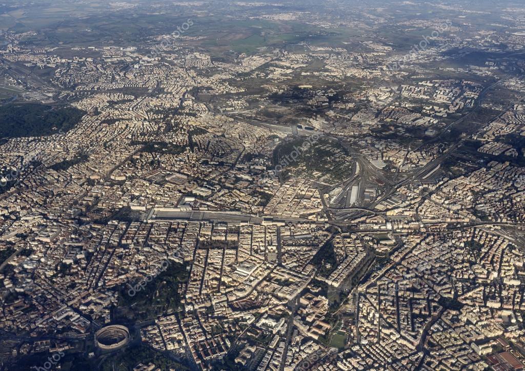 Italy, Lazio, aerial view of Rome
