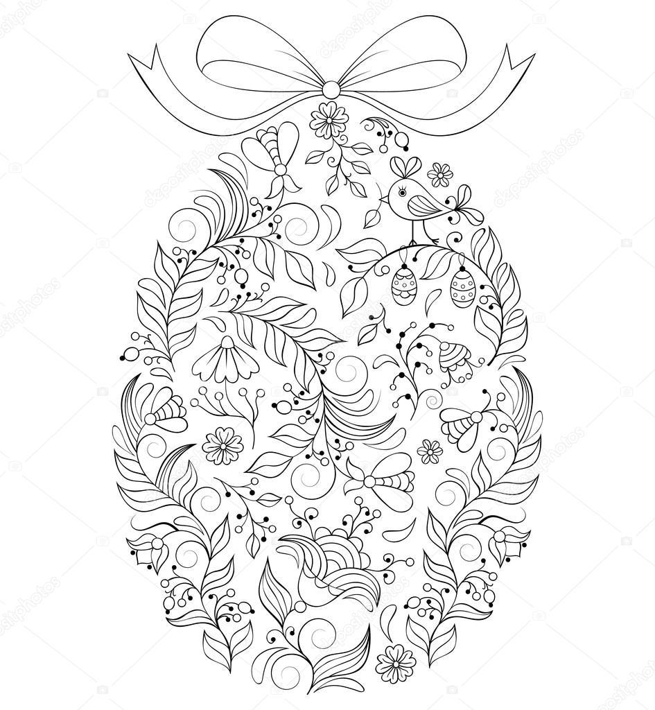 Wektory Stockowe Kolorowanki Wielkanocne Jajko Kolorowanki Wielkanocne Bajki Jajka Rysunki Obrazy Ilustracje Depositphotos