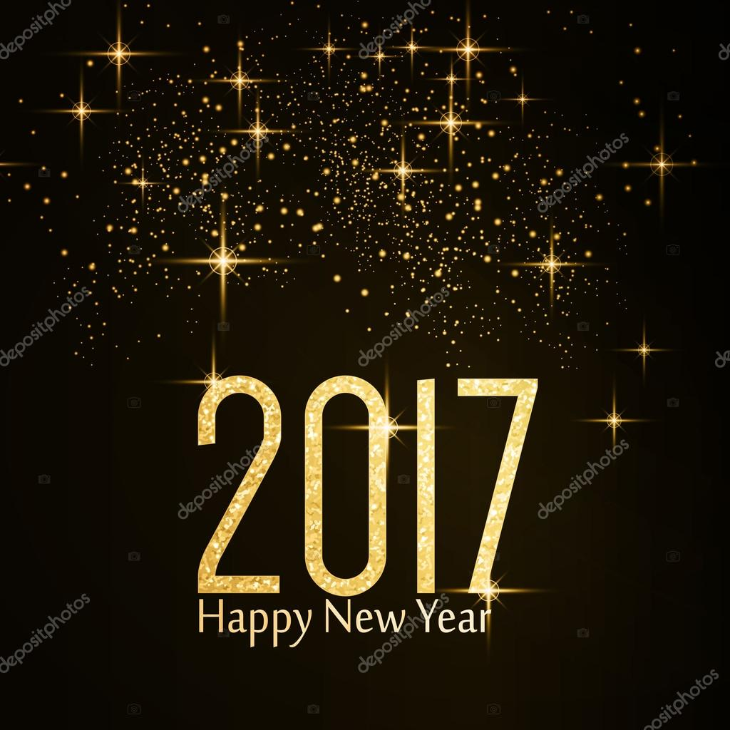 Goldglitter Textur Nummer 2017 Happy New Year — Stockvektor © wenani ...
