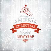 Červené stříbrné Vánoční pozadí typografie