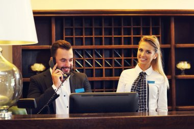 Picture of two receptionists