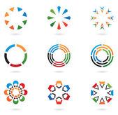 barevné abstraktní prvky