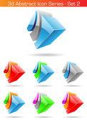3D abstraktní ikonu série - sada 2