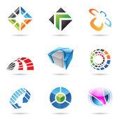 různé barevné abstraktní ikony nastavit 15