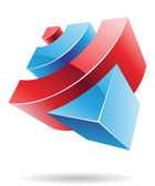 Abstract cubic logo icon