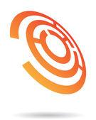 Abstraktní bludiště logo ikonu
