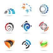 různé barevné abstraktní ikony, sada 19