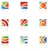 barevný čtvereček ikony