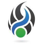 Abstraktní dynamické logo ikonu