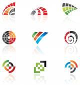abstraktní barevné ikony