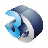 3D-s kijelző technológia szimbólum