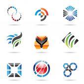 různé barevné abstraktní ikony nastavit 9
