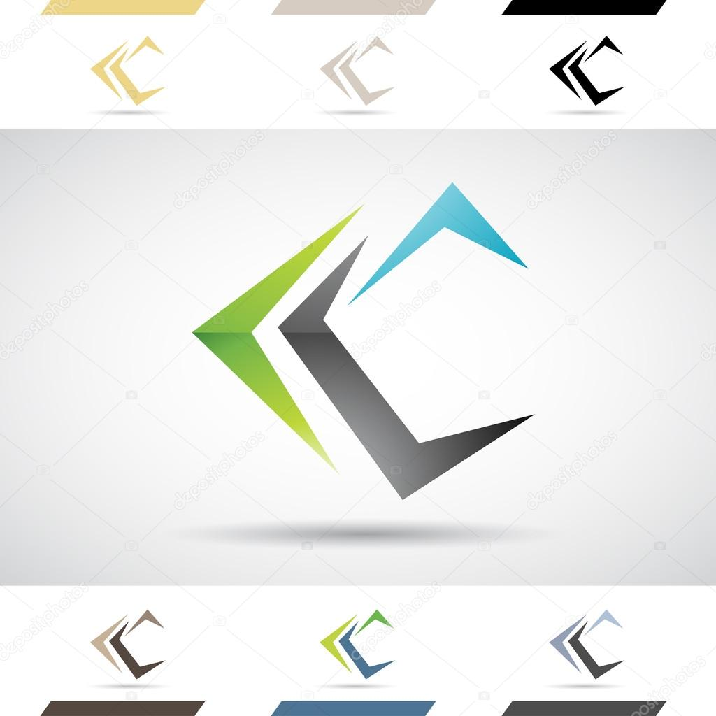 Logo Shapes and Icons of Letter C — Stock Vector © cidepix