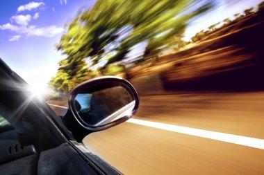 Car travel concept