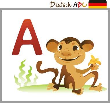 German or Deutsch Zoo Animals Alphabet for the kids: A