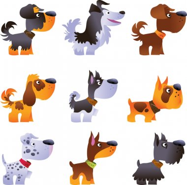 Dogs vector set, part 3