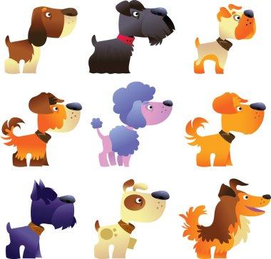 Dogs vector set, part 4