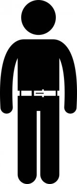 Men wearing body fashion accessories. Vector artwork of people wearing different type of fashion accessory style and design for male. icon