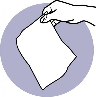 Hand holding and using toilet paper and tissue. Vector illustrations of hand holding, pulling, and getting toilet paper from holder. Finger grabbing a tissue paper from box and package. icon