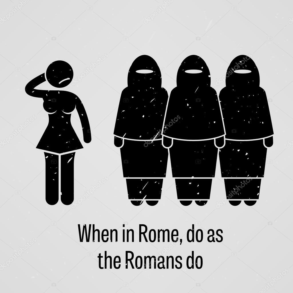 Hasil gambar untuk when in rome do as the romans