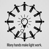Mnoho rukou, aby lehké práce