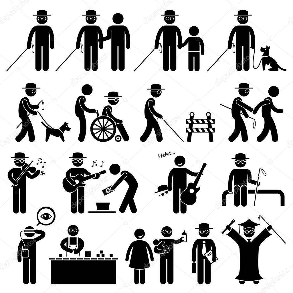 Sport field and track game athletic event winner celebration icon blind man handicap stick figure pictogram icons biocorpaavc Images