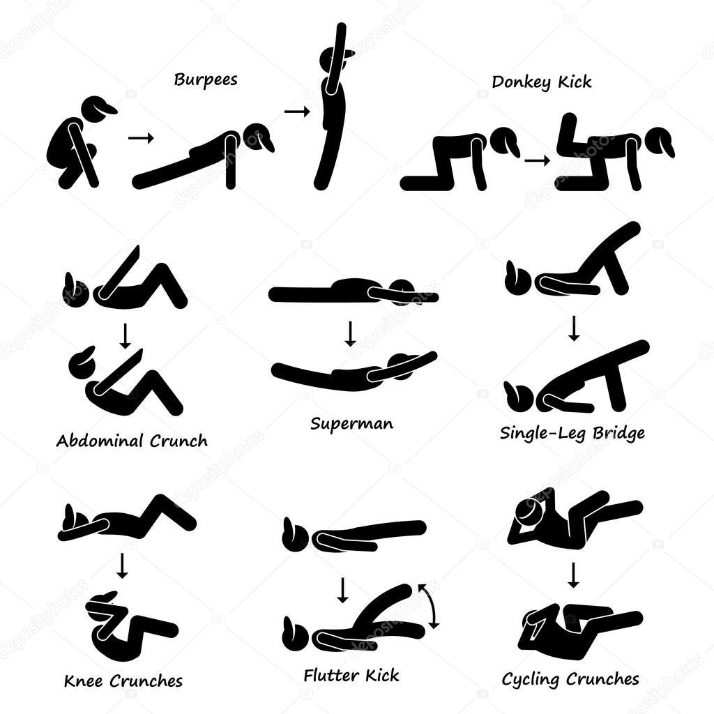 body workout  u00dcbung fitness training  set 3  strichm u00e4nnchen