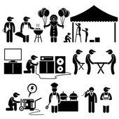 Fotografie Feier Party Festival Dienstleistungen Strichmännchen Piktogramme Symbole