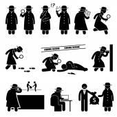 Fotografie Detektiv Spy Private Investigator Strichmännchen Piktogramme Symbole