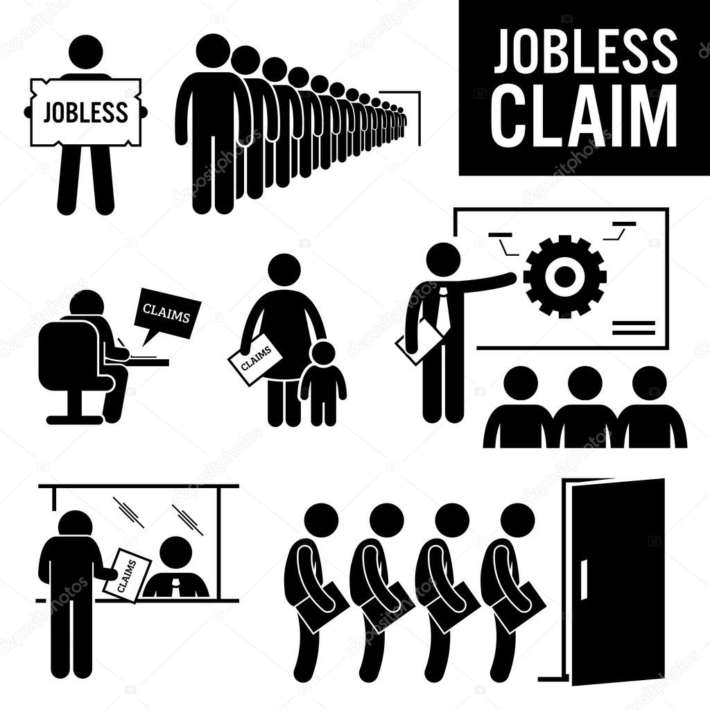 jobless claims unemployment benefits stick figure