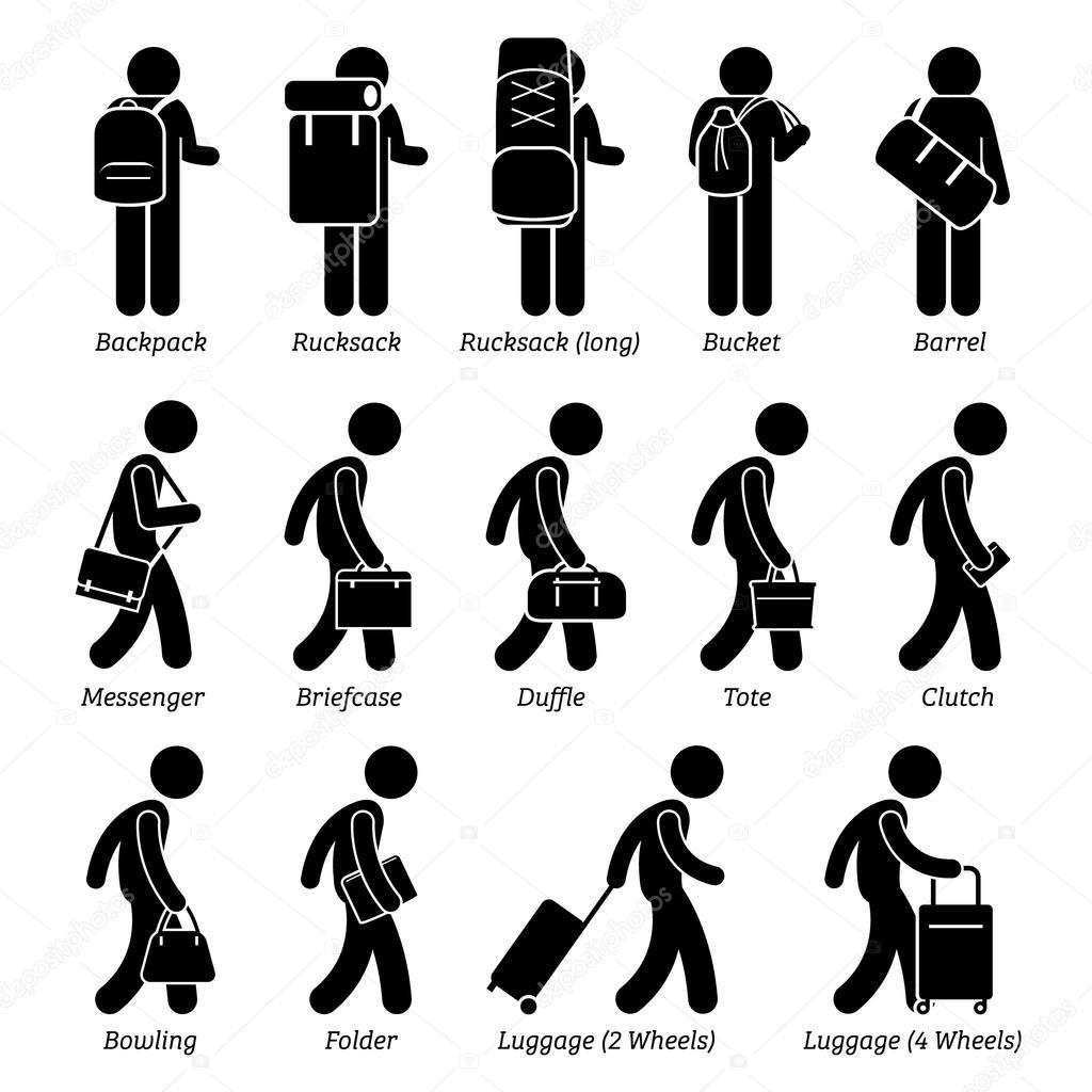 Type d'homme hommes sacs et bagages Stick