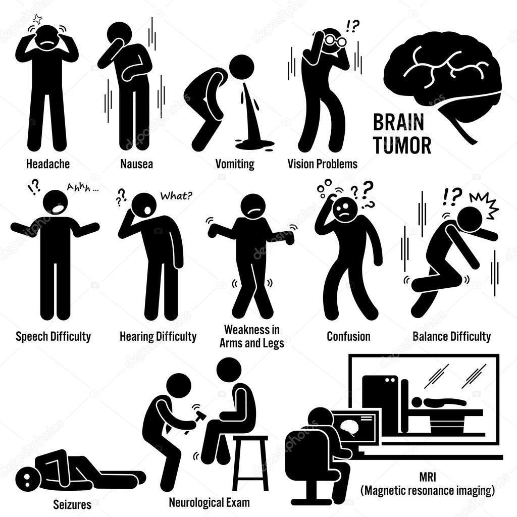 gehirn tumor krebs symptome ursachen risikofaktoren diagnose strichm nnchen piktogramme symbole. Black Bedroom Furniture Sets. Home Design Ideas