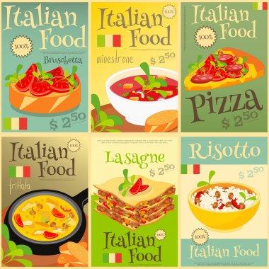 Italian Food Posters Set