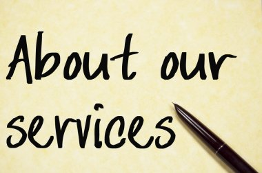 about our services text write on paper