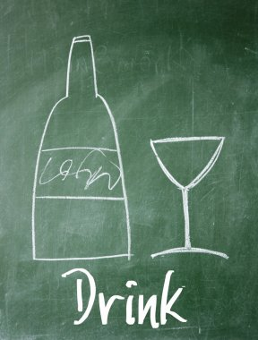drink sign on blackboard