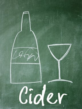 cider sign on blackboard
