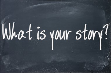 what is your story text write on blackboard