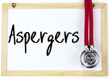 aspergers word write on blackboard