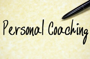 personal coaching text write on paper