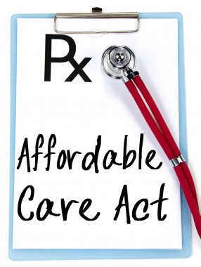 affordable care act text write on prescription