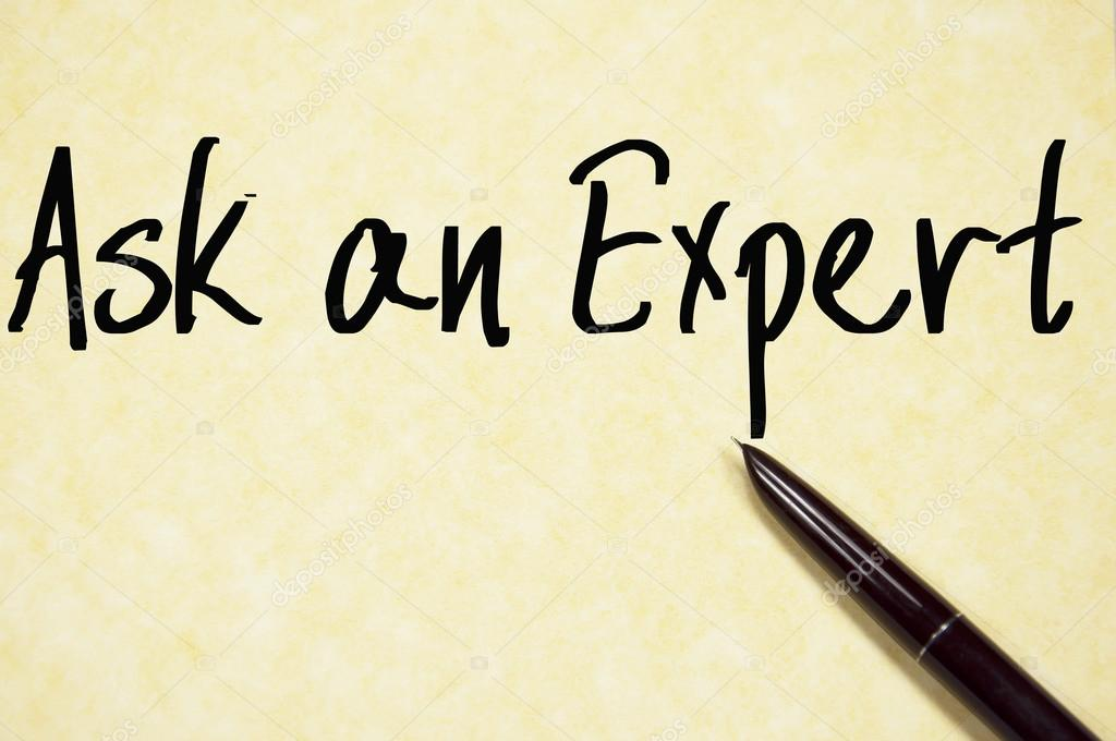 ask an expert text write on paper