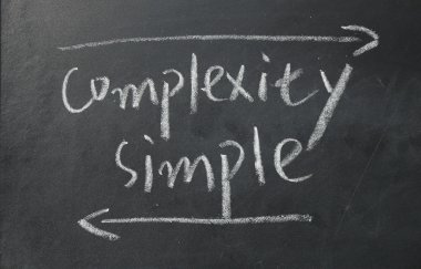 complexity and simple sign on blackboard