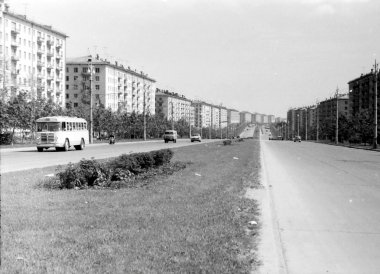 Moscow The Zoe and Alexander Kosmodemyanskiy Street 1962