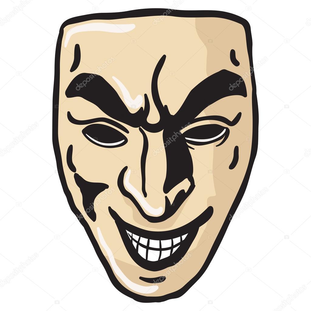 Masque De Sourire Maléfique Image Vectorielle Ainsel 106938120