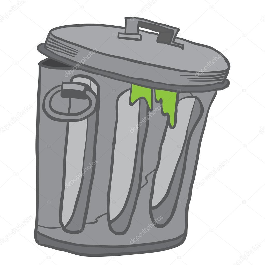 Vuilnisbak cartoon afbeelding stockvector ainsel 106950344 - Dessin de poubelle ...
