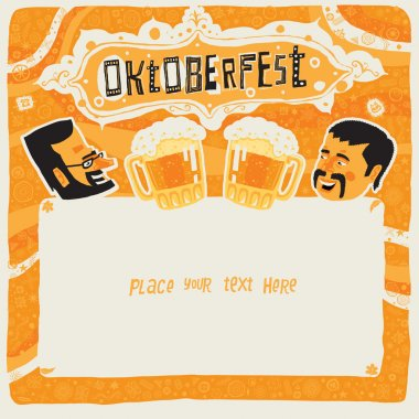 Oktoberfest postcard, poster, background, ornament or party invitation