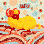 Fotografie Astrological zodiac sign Aries. Part of a set of horoscope signs. Vector illustration.
