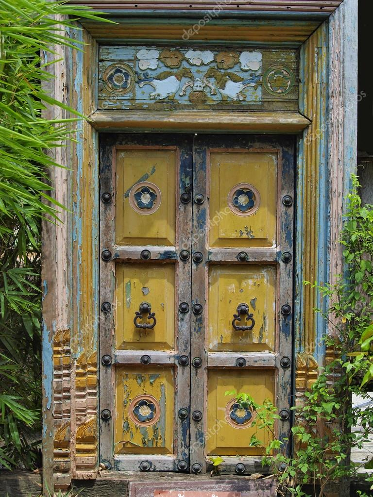 Alte Tür Asia Stil Im Garten U2014 Foto Von Thaikrit