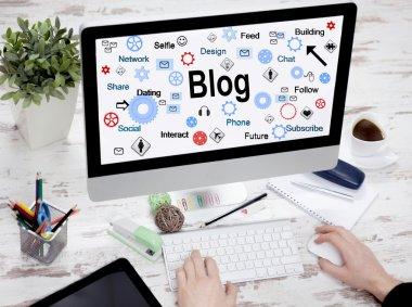 network blog social media technology concept